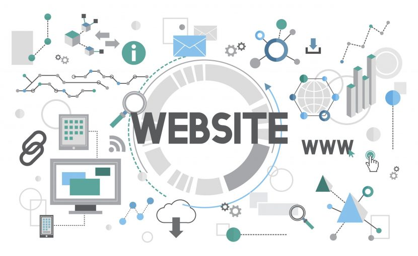 Illustration of web design